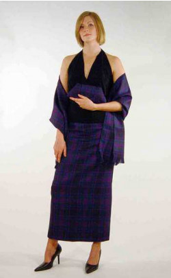 Long Straight Skirt, tartan