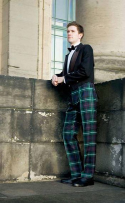 Military‑Style Fishtail Back Tartan Trews