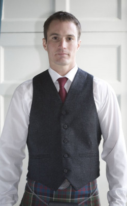 Classic Tweed 5 Button Vest