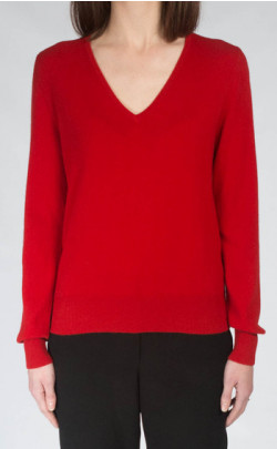 Ladies Cashmere V‑Neck Sweater