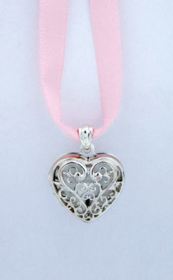 Child's Tartan Loveheart Locket