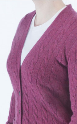 Ladies Luxury Cashmere V‑Neck Cardigan