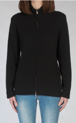 Luxury Scottish Cashmere Zip‑Up Cardigan, Zola