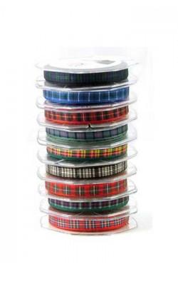 10 mm Tartan Ribbon