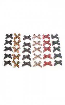 Tartan Ribbon Bows, 10 pieces