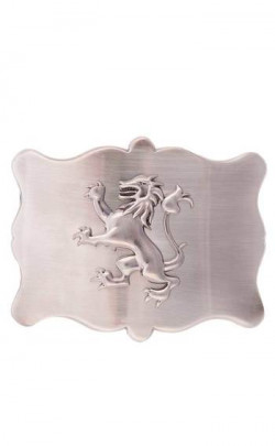 Plain Antique Lion Rampant Belt Buckle