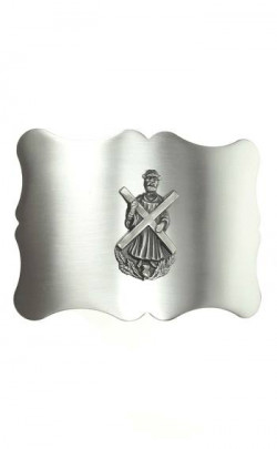 Plain Antique St Andrews Cross Belt Buckle