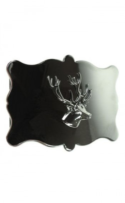 Plain Stag Head Belt Buckle