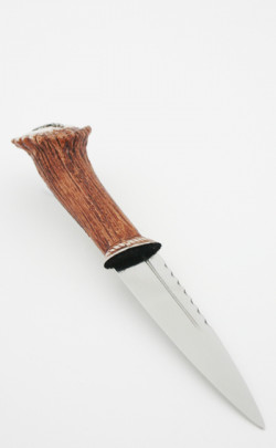 Stag Antler Effect Sgian Dubh, with thistle top