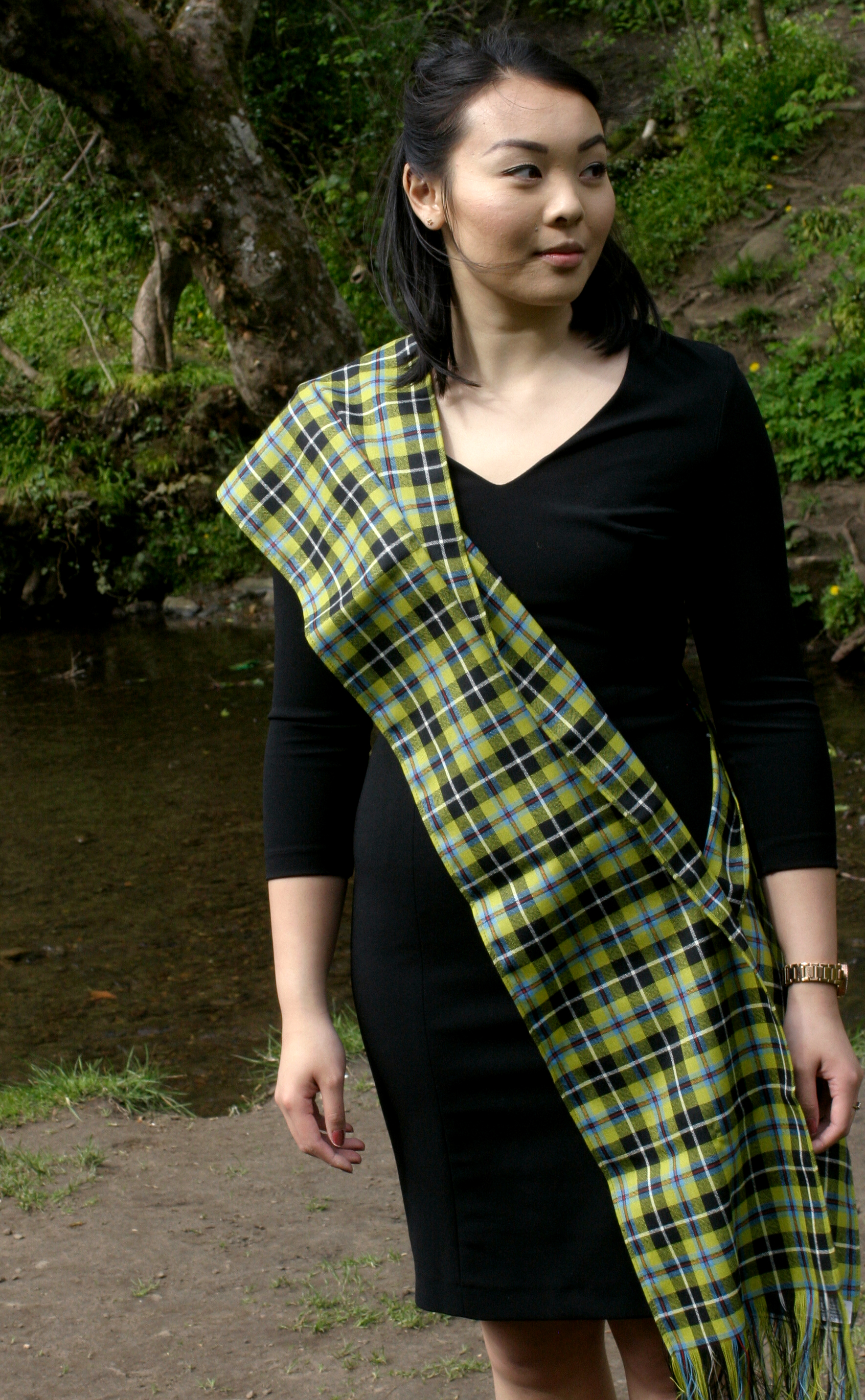 A tartan sash is an elegant addition to almost any outfit. bd8d504de